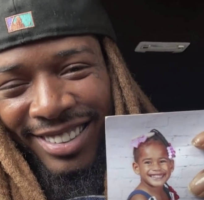 Fetty Wap shows his fans a photo of Lauren during an emotional Instagram Live.
