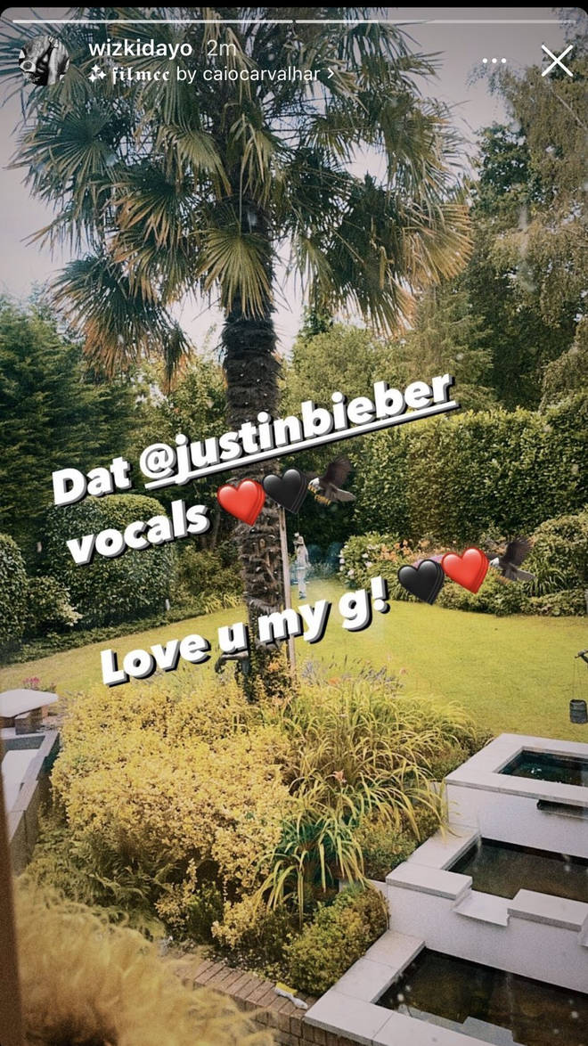 WizKid supported Justin on his story