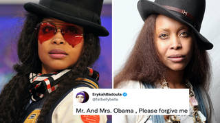 Erykah Badu has publicly apologised to the Obamas following her attendance at their party.