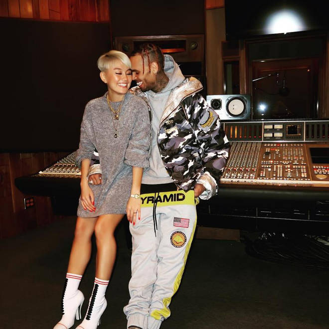 Chris was rumoured to be dating Indonesian singer Agnez Mo.