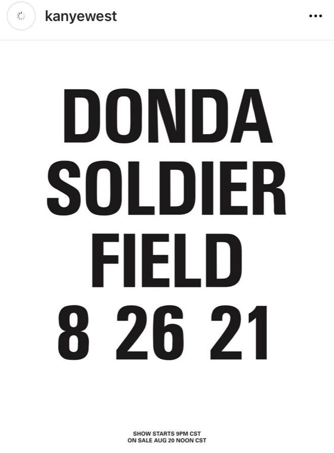 Kanye West announces his next 'Donda' listening event at Solider Field