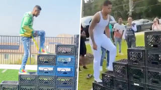 What is the Milk Crate Challenge? Health experts explain dangers of viral video trend