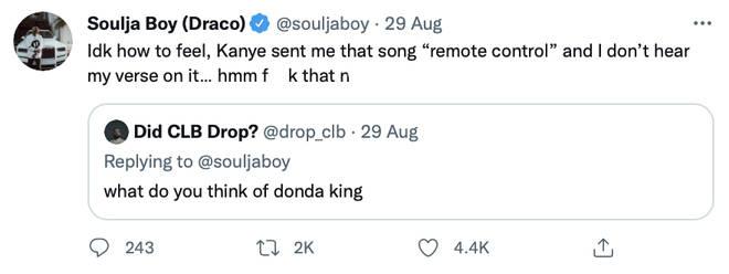 "Soulja Boy reveals he was left off ""Remote Control"""