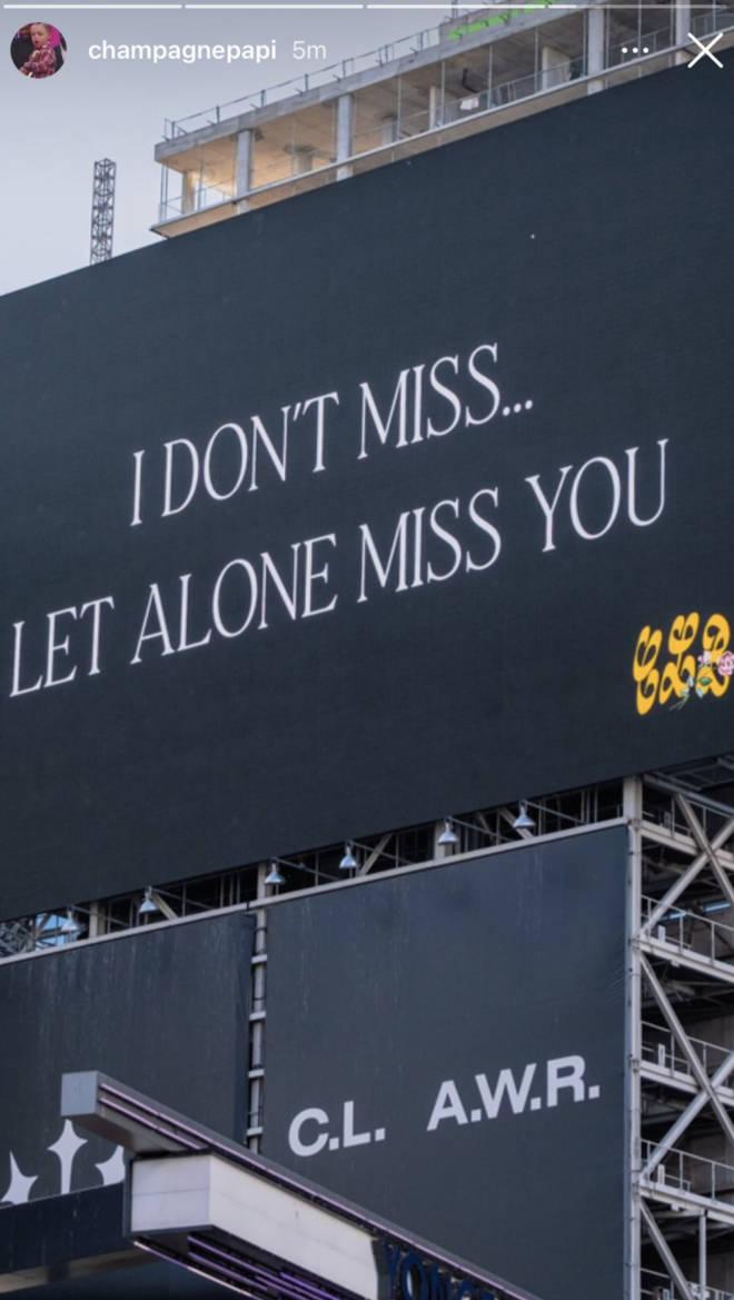 Drake CLB billboard in Toronto