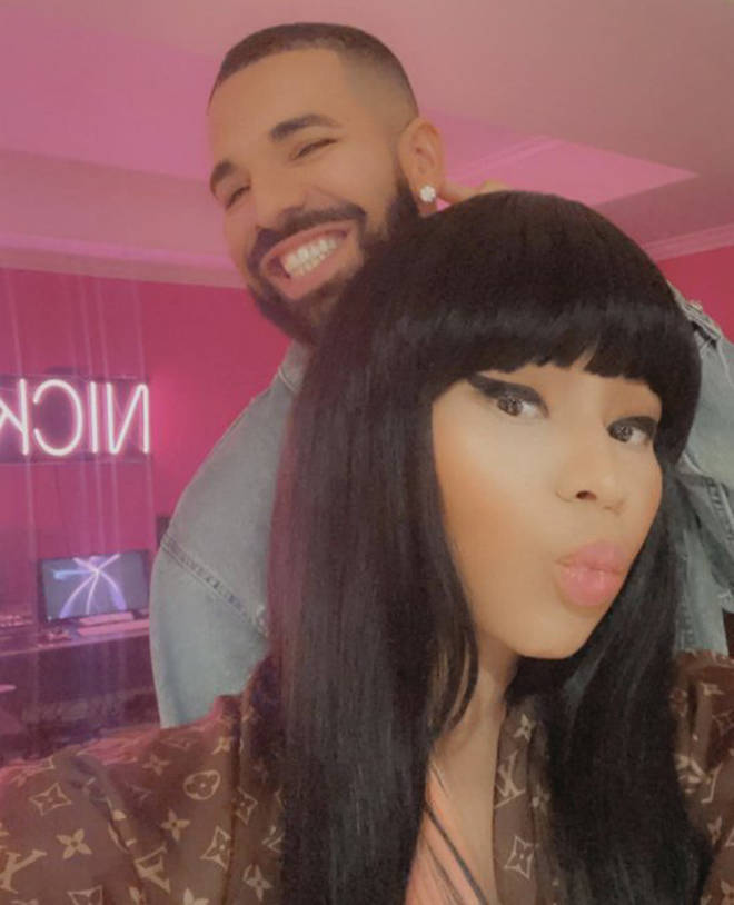 Fans spotted Drake and Nicki in the studio together