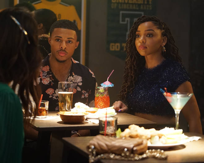 Bailey and Simmons worked together on Grown-ish