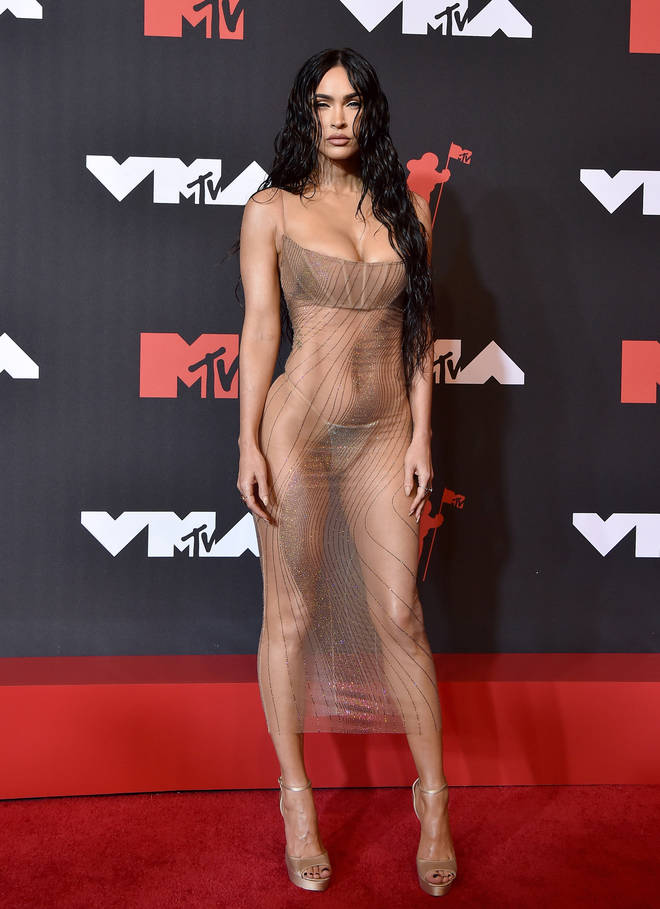 Megan Fox on the red carpet at the 2021 MTV Video Music Awards.