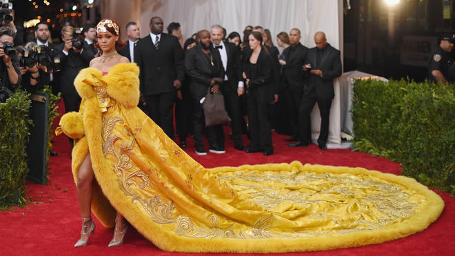 """Rihanna at the """"China: Through The Looking Glass"""" Costume Institute Benefit Gala in 2015."""