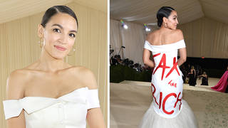 AOC Met Gala 2021 'Tax The Rich' dress controversy explained