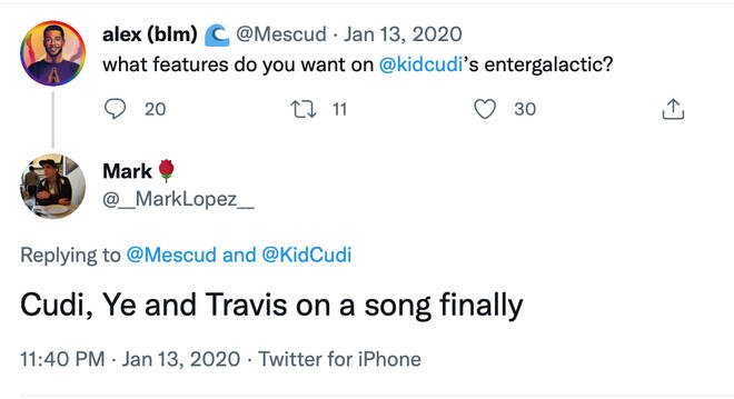 Fans are requesting a track with Kanye West and Travis Scott