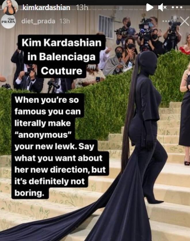 "Kim&squot;s look was described as ""not boring"""