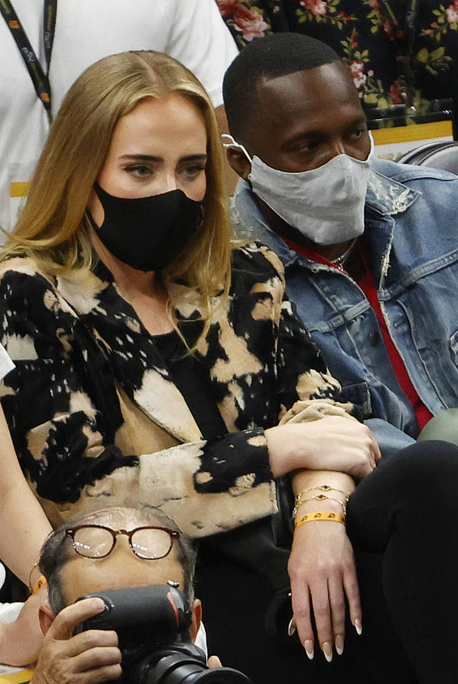 Adele ans Rich Paul were spotted together at the NBA Finals on July 17, 2021.