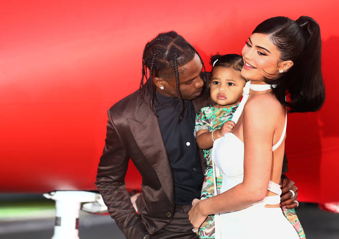 Kylie Jenner (L) and Travis Scott (R) are expecting their second child, after welcoming Stormi in 2018.