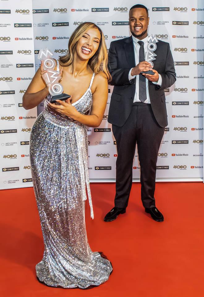 Chunkz hosted the MOBO awards alongside Maya Jama
