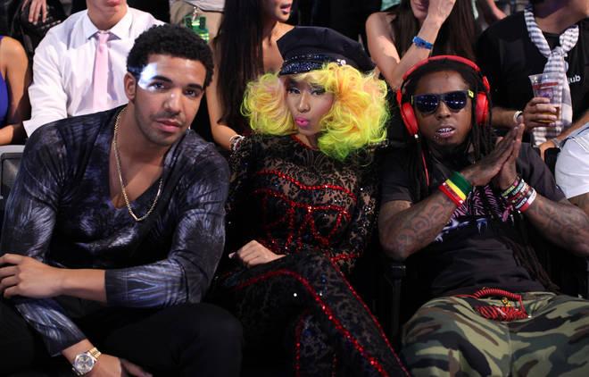 Drake, Nicki Minaj and Lil Wayne pictured in 2012
