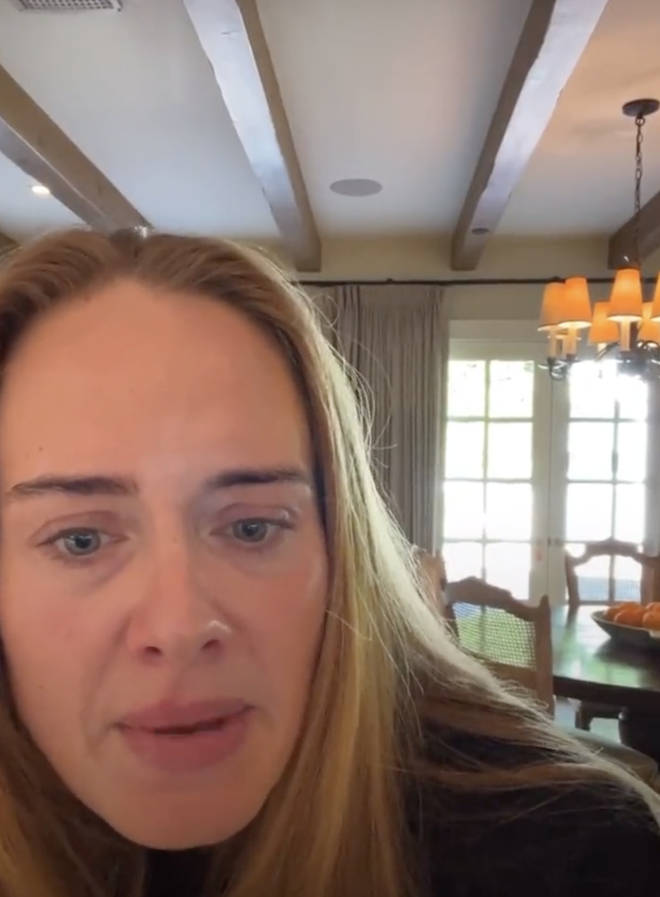 """Adele seems baffled after a fan asked her about her """"body count"""" on IG Live."""