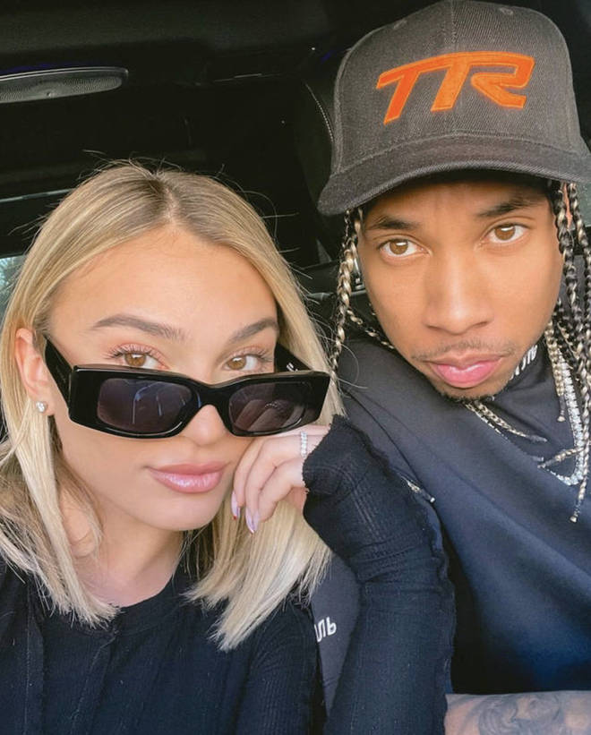 Camaryn Swanson and Tyga sparked engagement rumours after she was spotted wearing a ring on her wedding ring finger.