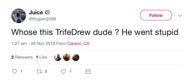 TrifeDrew Tweet