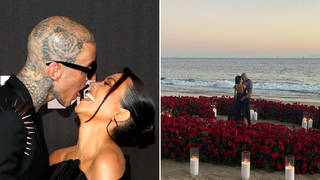 Kourtney Kardashian and Travis Barker confirm they're engaged with sweet post