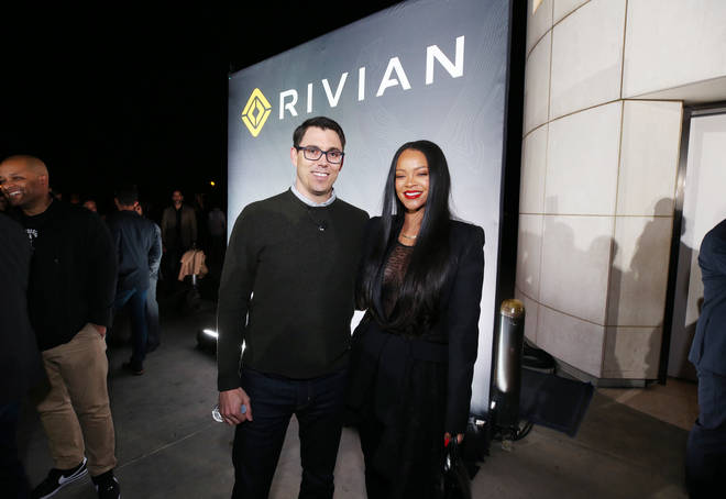 Rihanna at the Rivian event in LA.