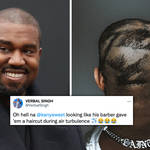 Kanye West fans go wild after rapper debuts new haircut
