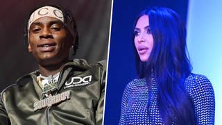 Soulja Boy reacts to Kim Kardashian's rap song during SNL debut