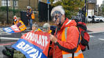 Insulate Britain activists were apparently sprayed with ink
