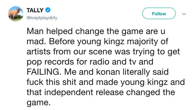 Krept recently took to Twitter and sent a number of tweets about how he changed the game with Konan