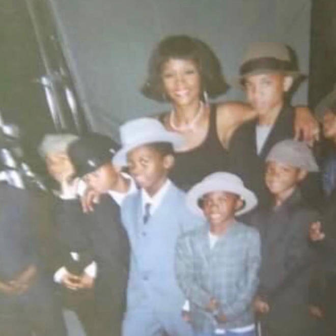 Offset shared a picture of himself as a child with Whitney Houston