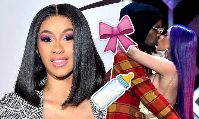 Cardi B posted the first photo of baby Kulture on Instagram.