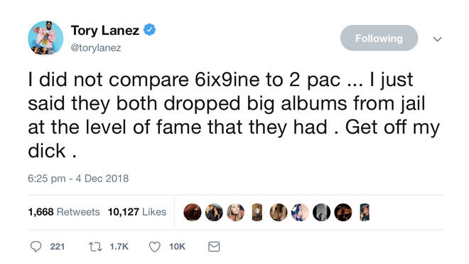 Lanez clarified his comments on Twitter.