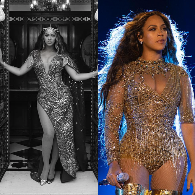 The star dazzled in gold as she performed her biggest hits.