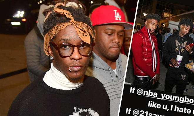 Young Thug has left a number of Twitter users unimpressed.