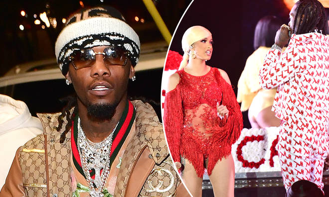 Offset has explained why he stormed Cardi's set in a bid to win her back.