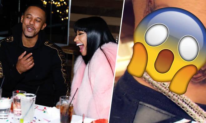 Nicki Minaj's boyfriend Kenneth Petty inked his love for her forever.