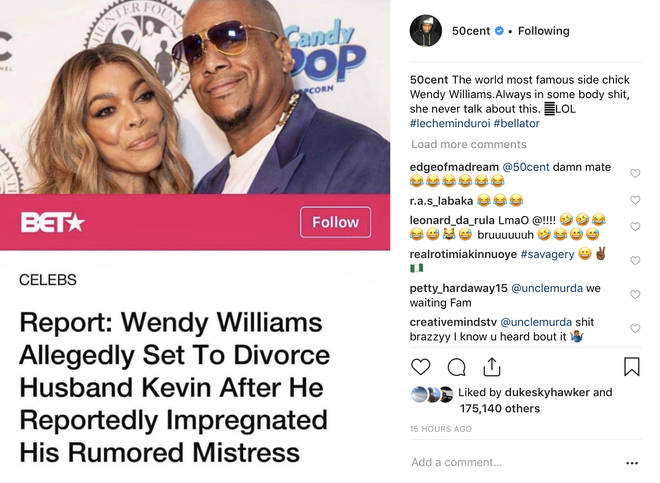 "The rapper referred to Williams as the ""world&squot;s most famous side chick."""