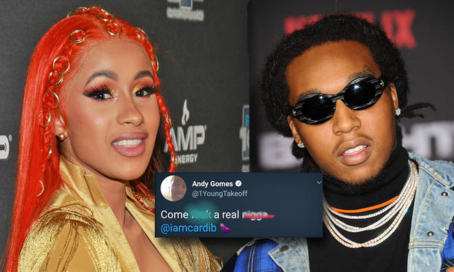 Takeoff messages Cardi B after his Twitter is hacked