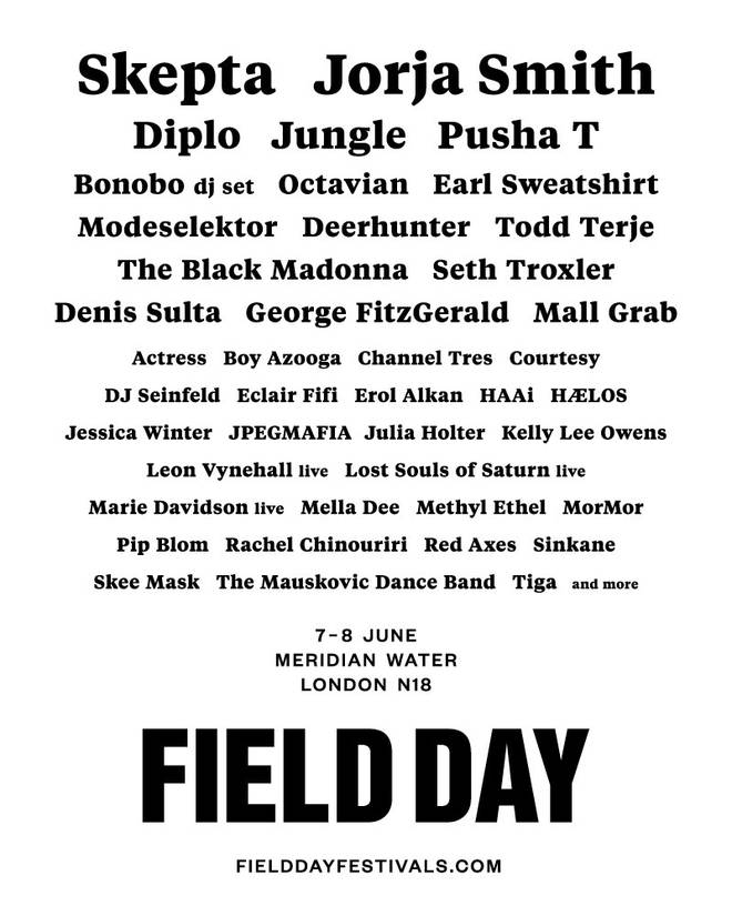 f210289f7 Skepta And Jorja Smith Lead Field Day Line Up Announcement - Capital ...