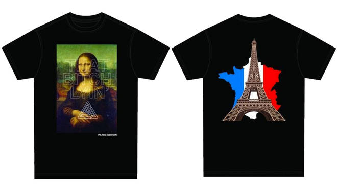 Chris Brown also released a special French edition of his 'This B*tch Lyin' t-shirts following Paris rape arrest