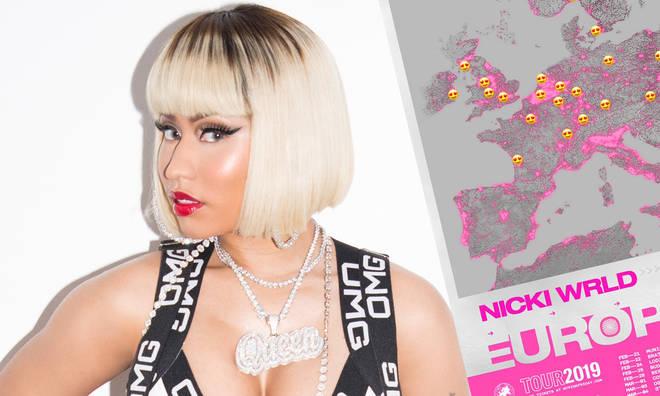 Nicki Minaj has announced the European dates for her world tour.