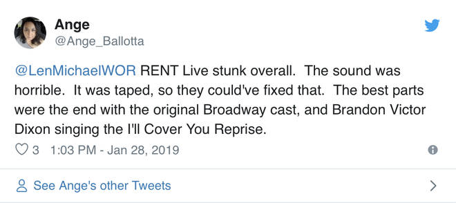 Rent Live supposedly was taped