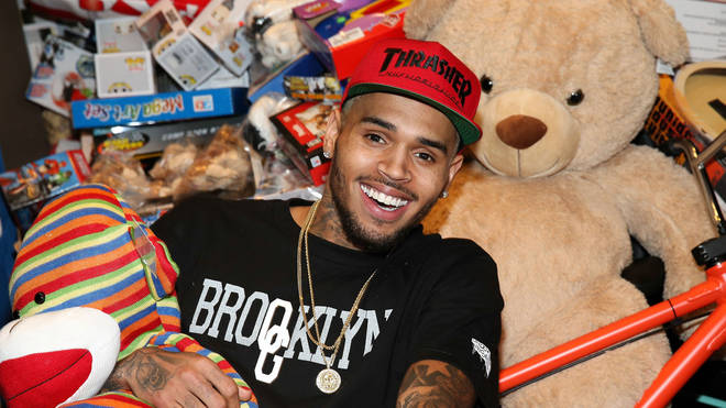 Chris Brown returns home to his favourite women