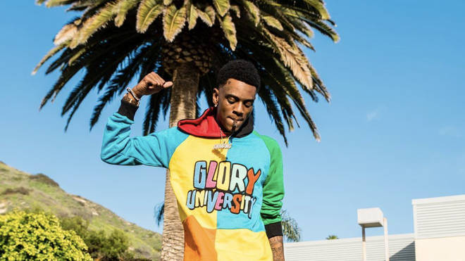Soulja Boy poses during new music video shoot to get a couple snaps for the gram
