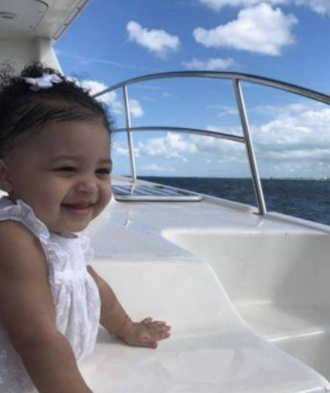 Stormi on a boat travelling the world