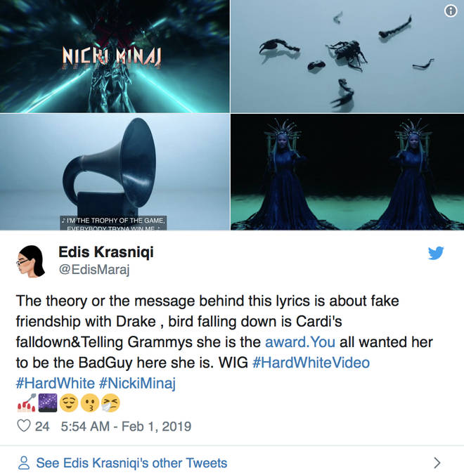 Fans speculate on the Hard White video