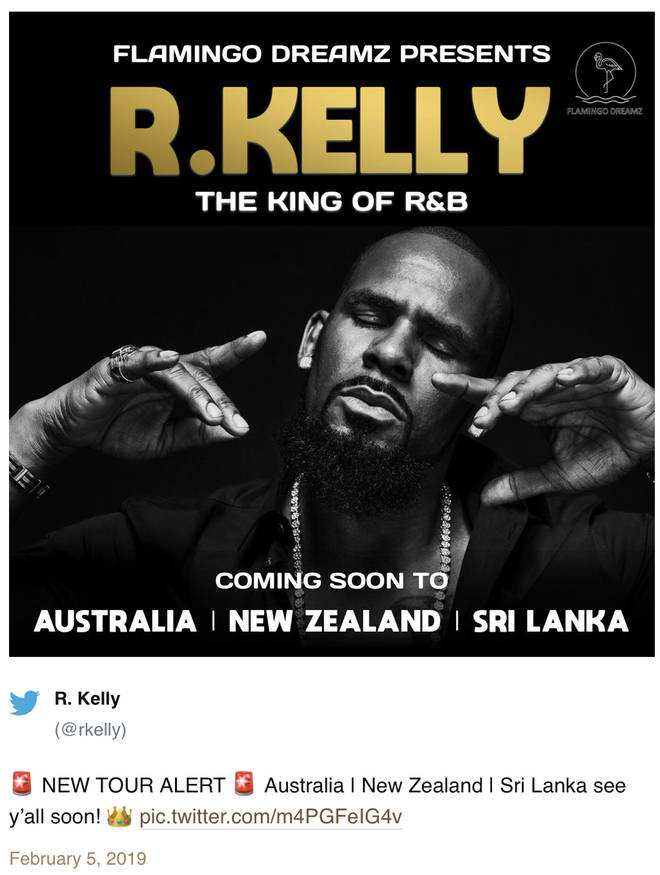 R. Kelly announces international tour on Twitter