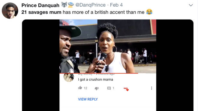 21 Savage fans react to his mothers British accent