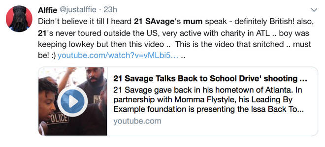 Fans love 21 Savage's mothers London accent