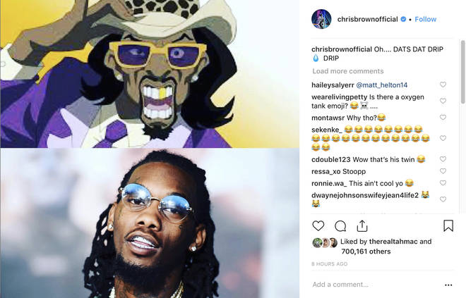 Chris Brown continues to make comparison photos mocking Offset