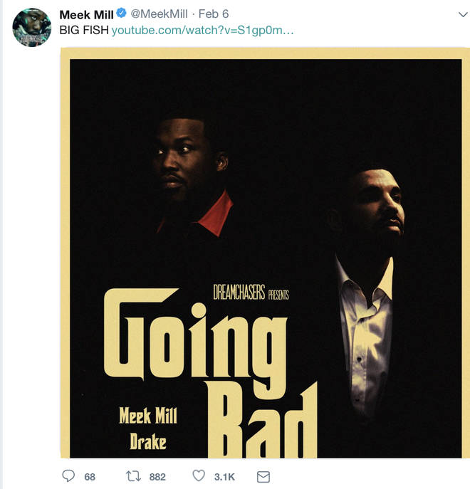 Meek Mill posts 'Going Bad' poster on Twitter to tease fans